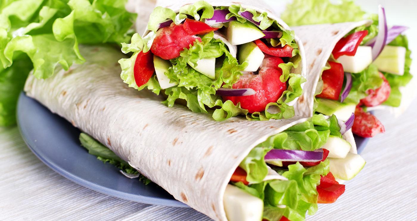 Basische Gemüse-Wraps