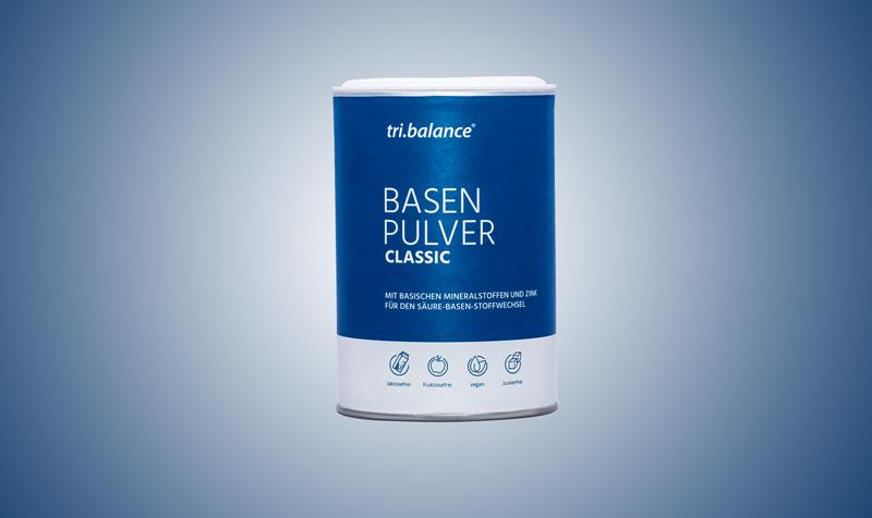 Das tri.balance Basenpulver CLASSIC bekämpft aktiv die Ursachen von Sodbrennen. Dadurch kann Sodbrennen durch Übersäuerung vorgebeugt werden – für mehr Wohlbefinden.