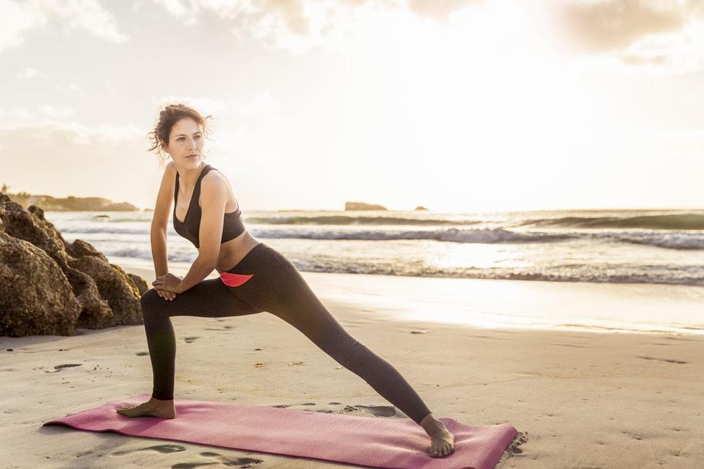 tri.balance, Säure-Basen-Haushalt, Fit im Urlaub, Fit am Strand, Dehnübungen, Stretching am Strand