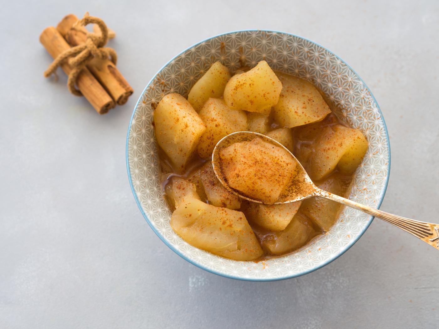 Rezept Tipp: Wärmendes Apfelkompott mit Zimt