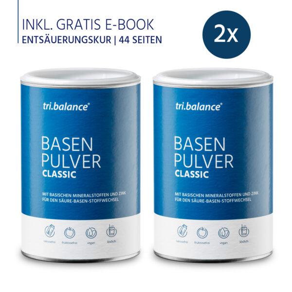 tribalance Basenpulver CLASSUC 2er Pack inkl E-Book Entsauerungskur