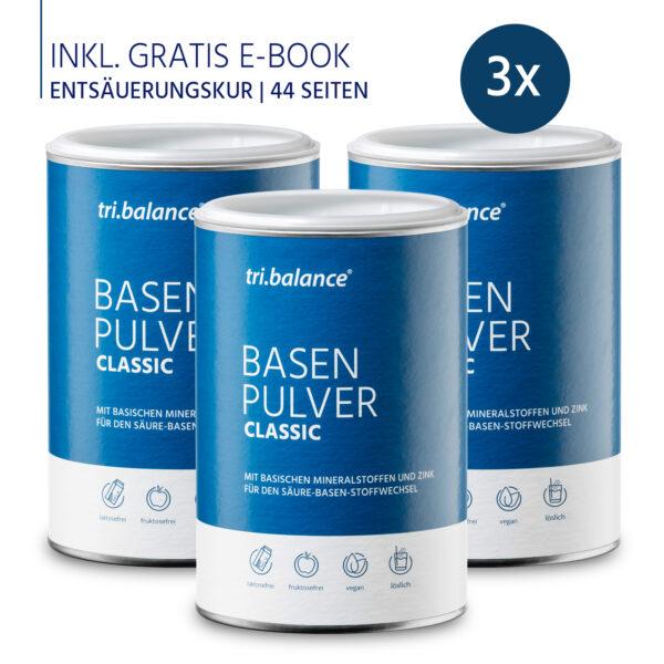 tribalance Basenpulver CLASSUC 3er Pack inkl E-Book Entsauerungskur