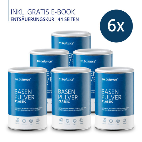 tribalance Basenpulver CLASSUC 6er Pack inkl E-Book Entsauerungskur