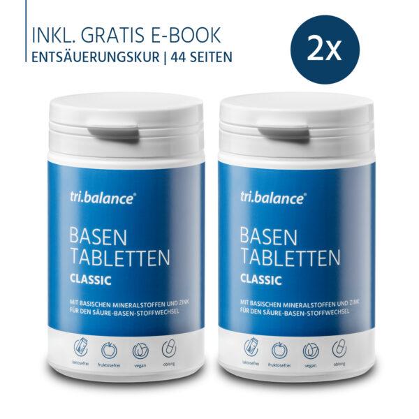 tribalance Basentabletten CLASSIC 2er Pack inkl. E-Book Entsäuerungskur